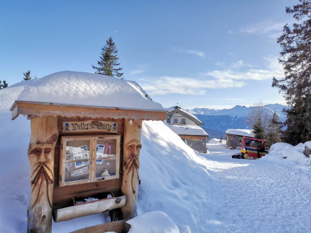 Aus dem Gaistal Winterwandern zur Wettersteinhütte